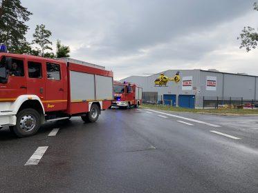 Rettungseinsatz auf Firmengelände in Hosena